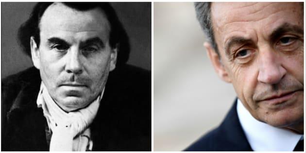 L'écrivain Louis Ferdinand Céline et Nicolas Sarkozy