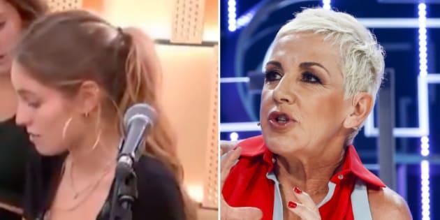 María, concursante de 'OT 2018', y Ana Torroja