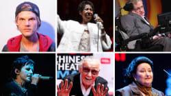 #QEPD Los que murieron en 2018: Dolores O'Riordan, Stephen Hawking, Aretha Franklin, Stan