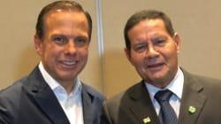 Após 'bolo' de Bolsonaro, Doria recebe apoio de