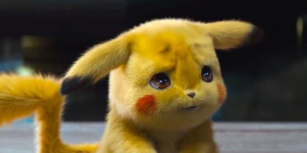 """Pikachu s'anime en live action dans la première bande-annonce de """"Pokémon: Détective Pikachu""""."""