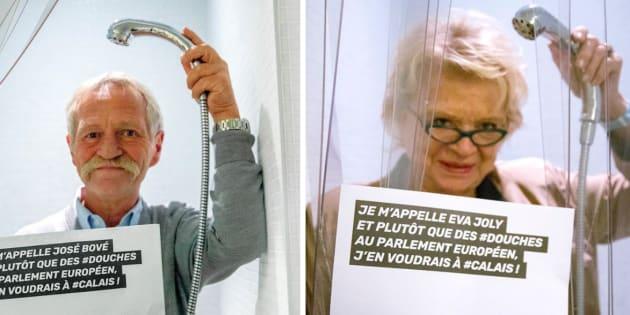 José Bové et Eva Joly sous la douche (pour la bonne cause)
