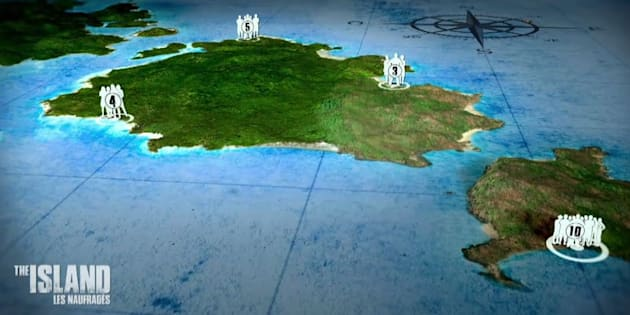 Les 22 naufragés vont être dispatchés dans 4 groupes mixtes sur un archipel en plein coeur de l'Océan Pacifique