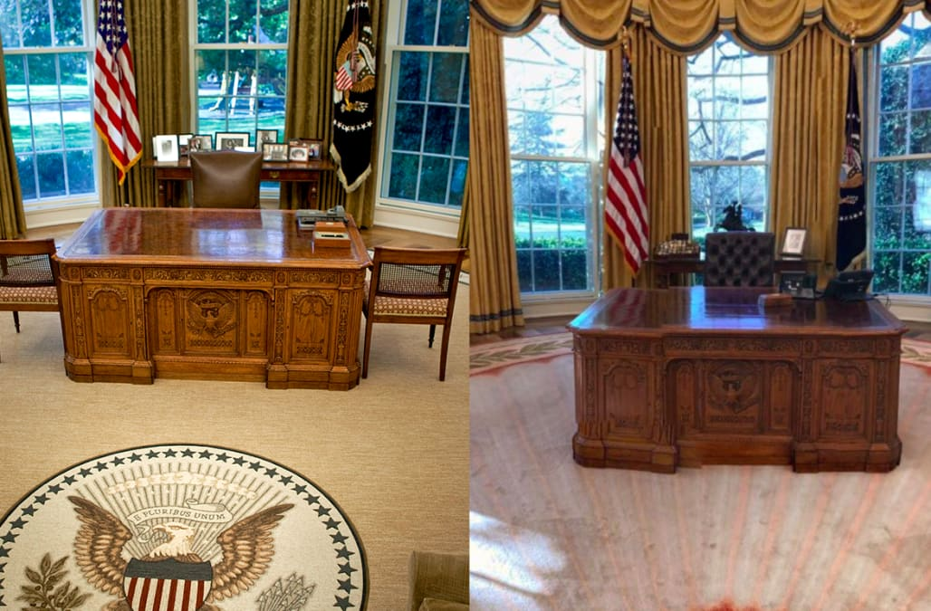 oval office photos. His Penthouse, For Example, Is Decked Out In Gold And Louis XIV-inspired Furniture. The Oval Office, As It Turns Out, No Different. Office Photos