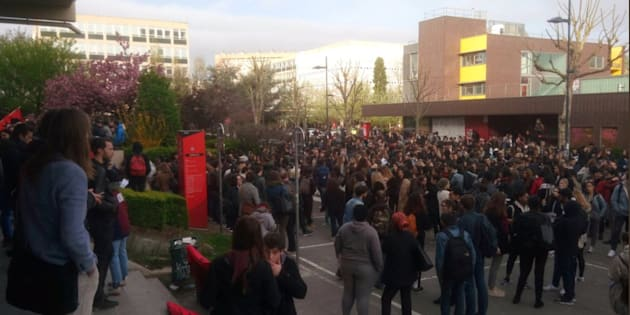 La faculté de Nanterre paralysée, le 16 avril 2018.