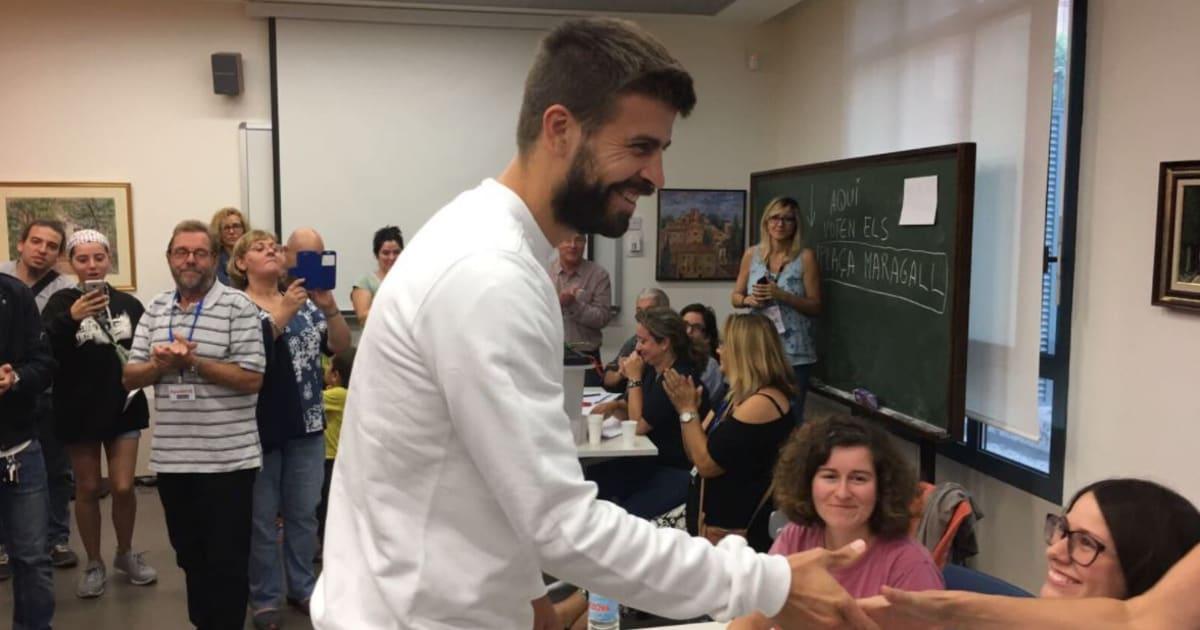 """Référendum en Catalogne: Gerard Piqué vote pour """"défendre la démocratie"""""""