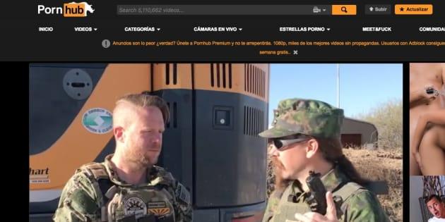 Captura de pantalla del primer vídeo de armas en Pornhub.