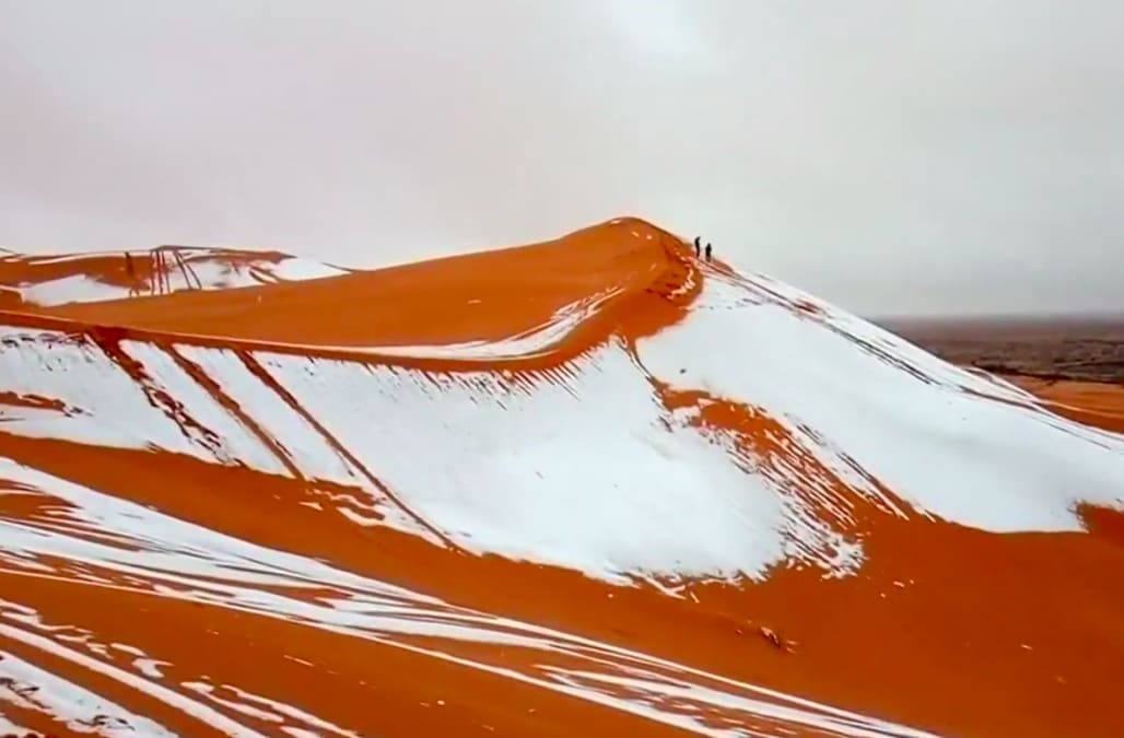 Freak Snowstorm Blankets Sahara Desert In 16 Inches Of Snow