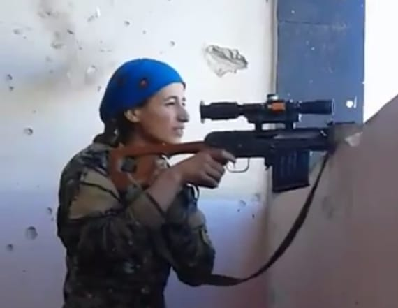 Sniper laughs at ISIS when bullet misses her head