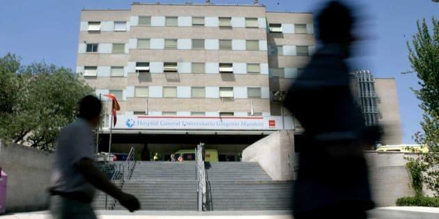 Fachada del edificio principal del Hospital Gregorio Marañón de Madrid.