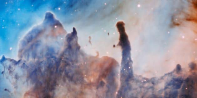 """Ces images des """"piliers de la destruction"""" ont été capturées par le Very Large Telescope de l'Observatoire européen austral."""