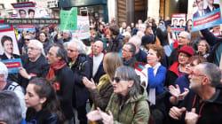 Les QG de Hamon et Mélenchon visités par des manifestants réclamant l'unité de la