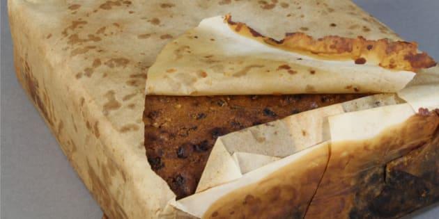 Le cake aux fruits centenaire découvert en Antarctique.