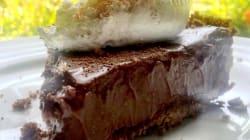 'Parfait' de chocolate crujiente con cremoso de