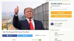 Batalla de 'crowdfunding' por el muro de Trump: uno para pagarlo... y otro para comprar escaleras con las que