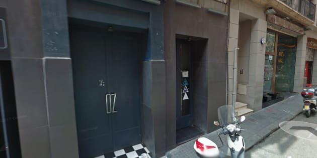 Puerta de la discoteca en la que supuestamente se conocieron la chica y los dos detenidos.