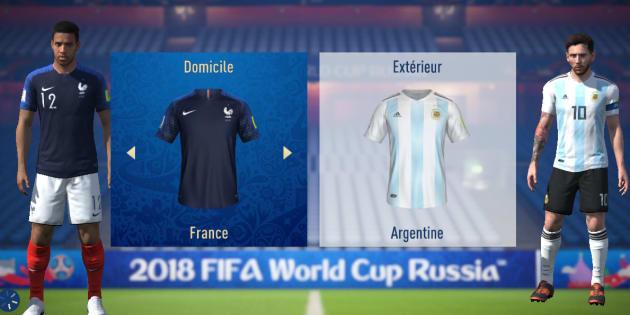 """France-Argentine à la Coupe du monde 2018: l'intelligence artificielle de """"FIFA18"""" a de quoi vous inquiéter."""