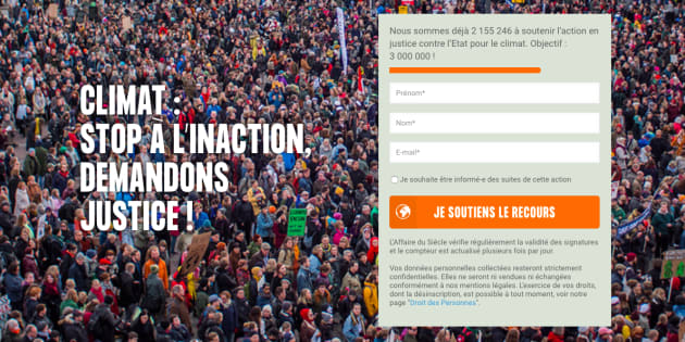 """Dans le cadre de """"L'affaire du siècle"""", un recours contre l'inaction de l'État sur la question climatique est déposé ce jeudi devant la justice."""