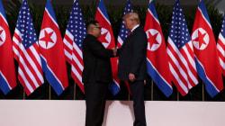 Todo empezó cordial entre Kim Jong-un y Donald