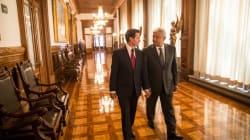 En imágenes, la reunión EPN-AMLO desde Palacio