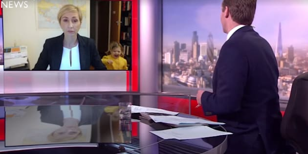 Paródia feita pelo programa humorístico 'Jono e Ben' ironiza a reação do entrevistado da BBC.
