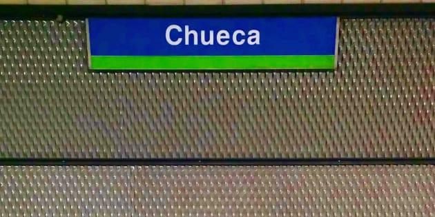 Estación de Chueca, por la que pasa la línea 5 del metro de Madrid.