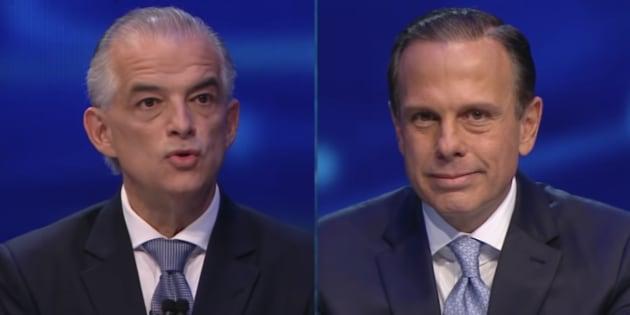 Márcio França e João Doria se enfrentam em novo debate nesta terça-feira (23)