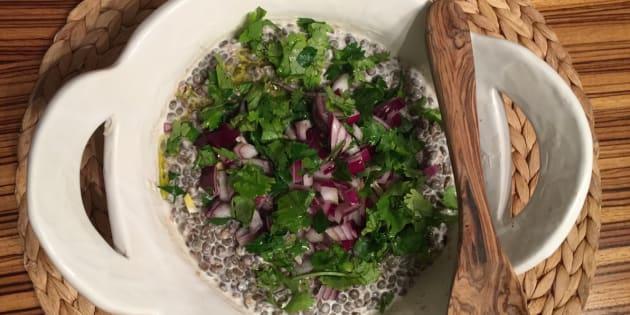 Vite fait, bien fait: salade de lentilles et oignons rouges