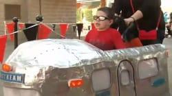 Pour Halloween, ce petit garçon atteint de paralysie cérébrale ne pouvait rêver plus beau