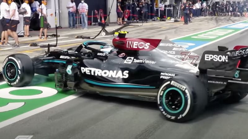 F1 hands Bottas a three-place grid drop for spinout in the pit lane