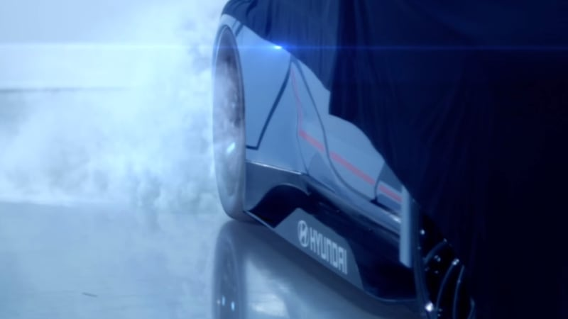 Hyundai's new electric race car will whir into the Frankfurt auto show