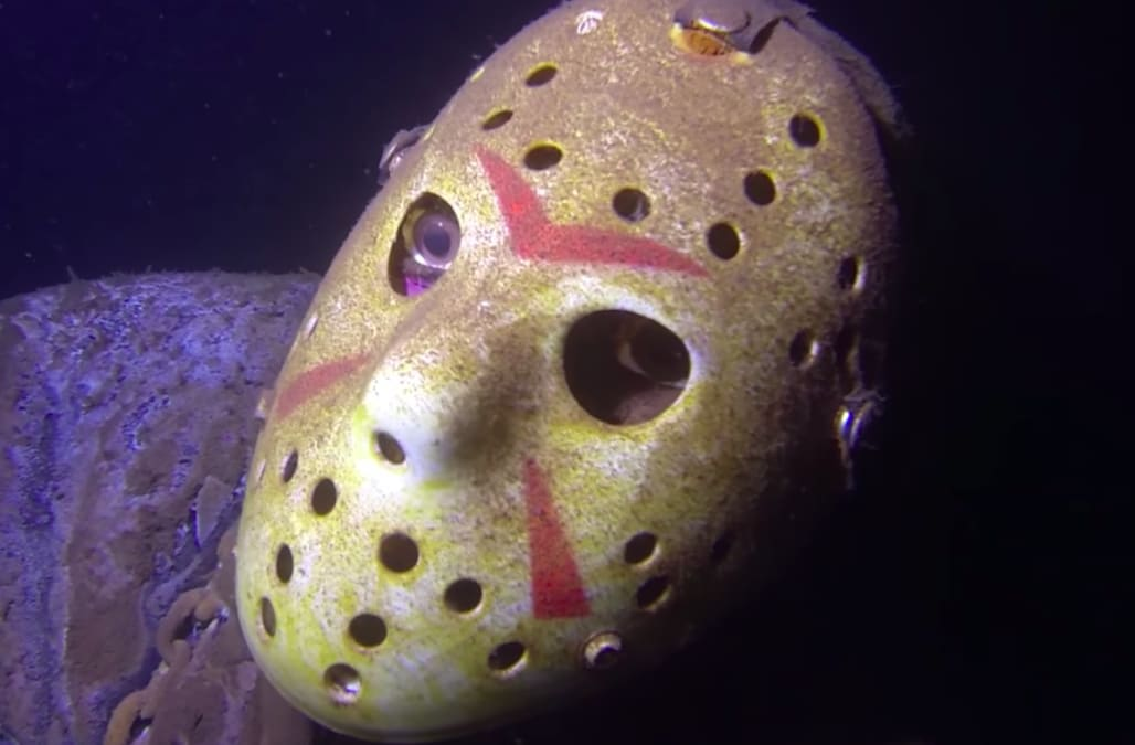 Creepy Underwater Statue Of Jason Voorhees In Minnesota Lake