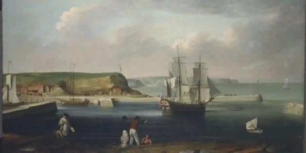 後にエンデバー号と呼ばれた帆船。1790年にトーマス・ルニーによって描かれた。