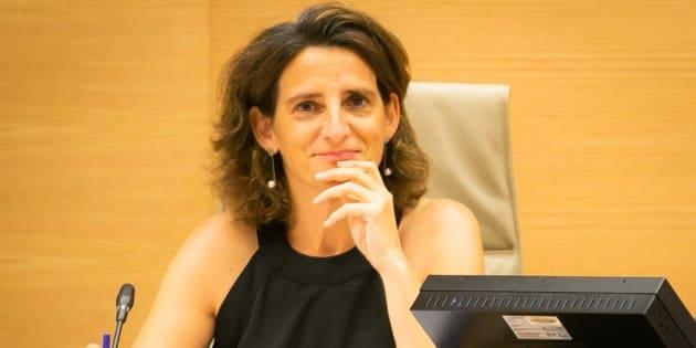 La ministra para la Transición Ecológica, Teresa Ribera, en el Congreso de los Diputadas.