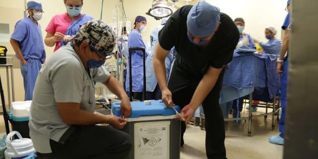 La procuración de órganos estuvo a cargo del equipo multidisciplinario de cirujanos de Trasplantes del Hospital General de La Raza.