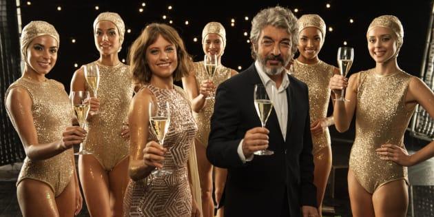 Los actores Ricardo Darín y Michelle Jenner, protagonistas del tradicional anuncio navideño de Freixenet.