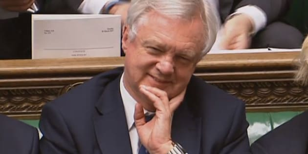 Brexit Secretary David Davis smiles after Prime Minister Theresa May announced in the House of Commons, London, that she has triggered Article 50, starting a two-year countdown to the UK leaving the EU.