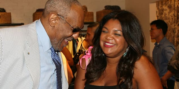 Bill Cosby com sua filha Evin em 2008.