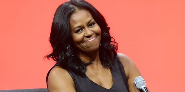 ORLANDO, FL - APRIL 27:  Former United States first lady Michelle Obama smiles during the AIA Conference on Architecture 2017 on April 27, 2017 in Orlando, Florida. Michelle Obama is making one of her first public speeches at the Orlando Conference since leaving the White House.  (Photo by Gerardo Mora/Getty Images)