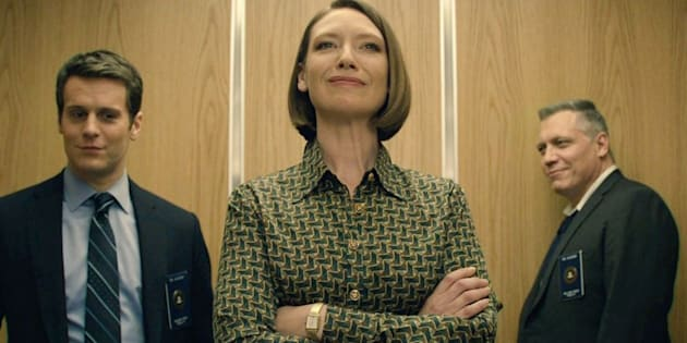 """Jonathan Groff, Anna Torv and Holt McCallany, of Netflix's """"Mindhunter."""""""