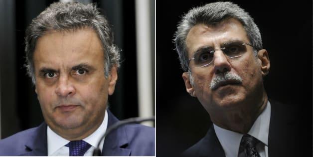 Os senadores Aécio Neves (PSDB-MG), presidente do partido, e Romero Jucá (PMDB-RR), líder do governo no Senado, são os com maior número de pedidos de inquéritos .