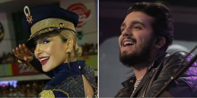 Os cantores Claudia Leitte e Luan Santana foram alguns dos beneficiados pela Lei Roaunet