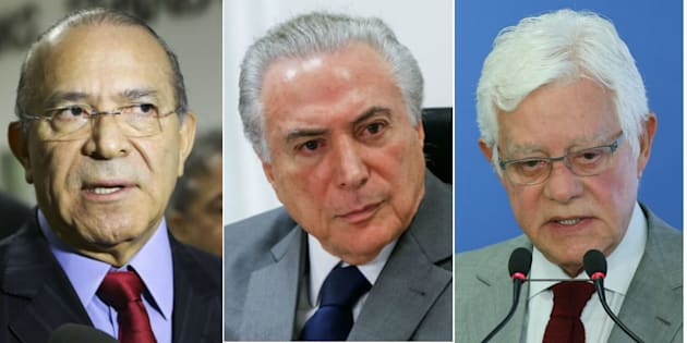 Ministro da Casa Civil, Eliseu Padilha, presidente Michel Temer e ministro da Secretaria-Geral da Presidência da República, Moreira Franco.
