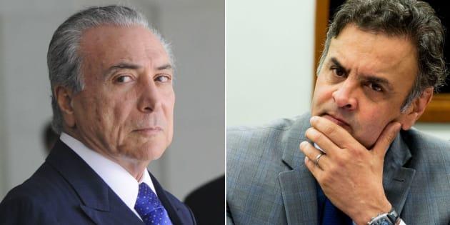 Delaçaõ da JBS complica presidente Michel Temer e seandor Aécio Neves (PSDB-MG).