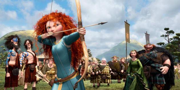 """Regardez les cheveux de Mérida, la princesse de """"Rebelle"""", ils disent beaucoup"""