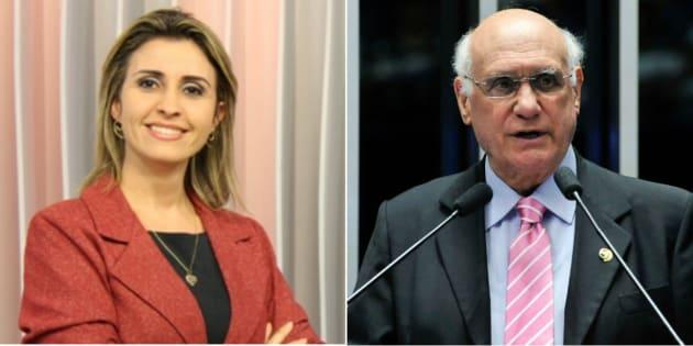 A jornalista Janice Santos, esposa do senador Lasier Martins (PSD-RS), prestou queixa contra o marido por agressão.