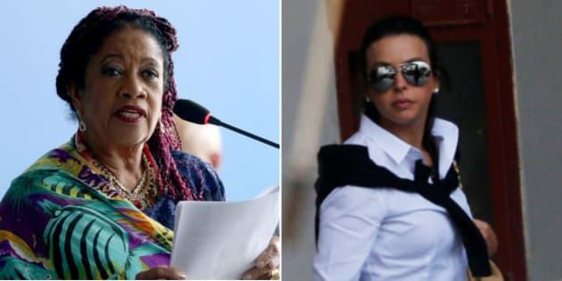 Ministra de Direitos Humanos, Luislinda Valois, e Adriana Ancelmo, esposa do ex-governador do Rio, Sérgio Cabral.