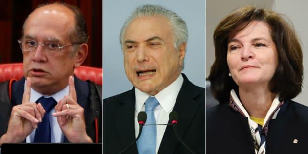 Presidente Michel Temer recebeu o presidente do Tribunal Superior Eleitoral, Gilmar Mendes, e a nova procuradora-geral da República, Raquel Dodge, sem registrar na agenda oficial.