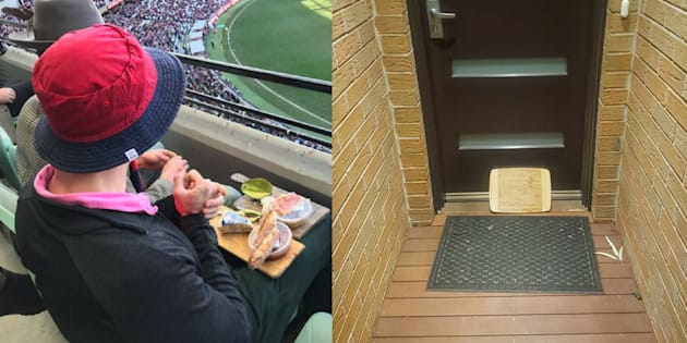 Will this bloke's cheeseboard ever know what it's like to be taken to a Demons match during the AFL finals?
