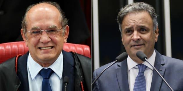 Ministro do Supremo Tribunal Federal Gilmar Mendes e senador Aécio Neves (PSDB-MG) fizeram 46 ligações via Whatsapp entre fevereiro e maio de 2017.